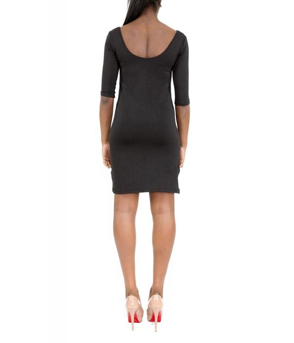 Hunter Dress Black Round-Neck