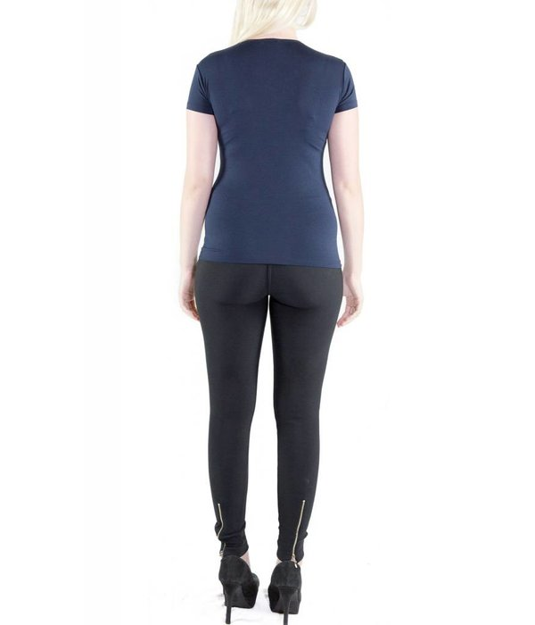 Lena Top Navy Blue