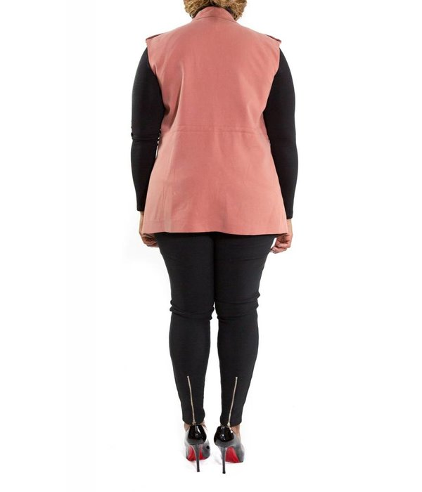 Lucille Vest Dusty Rose