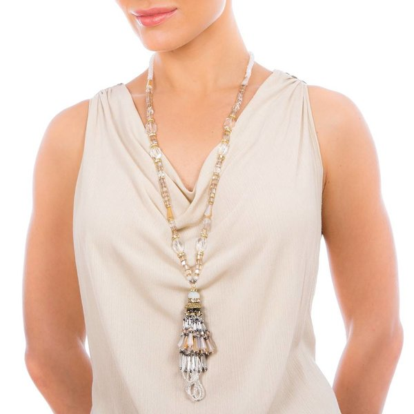 Butterfly Eden Rock Long Tassel Necklace