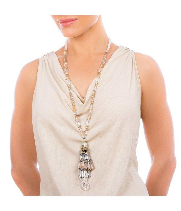 Butterfly Eden Rock Long Tassel Necklace