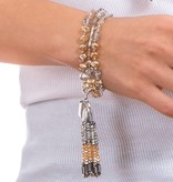 Butterfly Eden Rock Champagne small Tassel Necklace