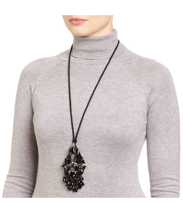 Butterfly High Voltage Black Long Necklace