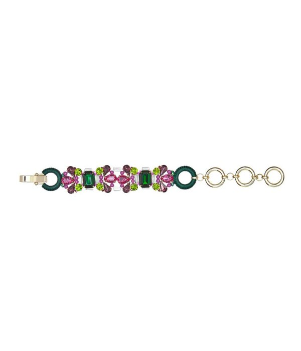Butterfly Poison Ivy Plum and Green Bracelet
