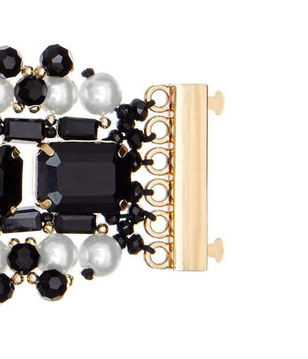 Butterfly Mademoiselle Pearl and Black Statement Bracelet