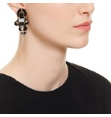 Butterfly Jet Black and Gold Statement Earring