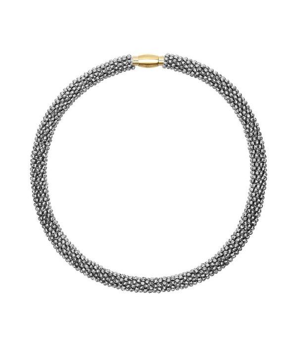 Butterfly Metallic Silver Choker Necklace