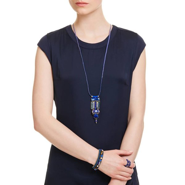 Butterfly Lapis Luxe Montana Crystal Pendent Necklace