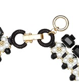 Butterfly Mademoiselle Pearl and Black Statement Necklace