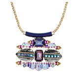 Butterfly Aurora Blue and Purple Necklace