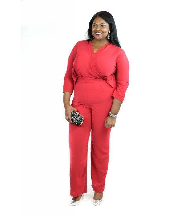 Bexley Jumpsuit Red