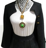 Rita Necklace Mustard/Green