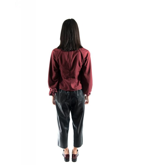 Trixie Blouse Burgundy