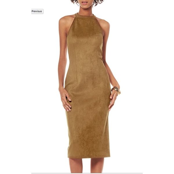 Angela Dress Camel