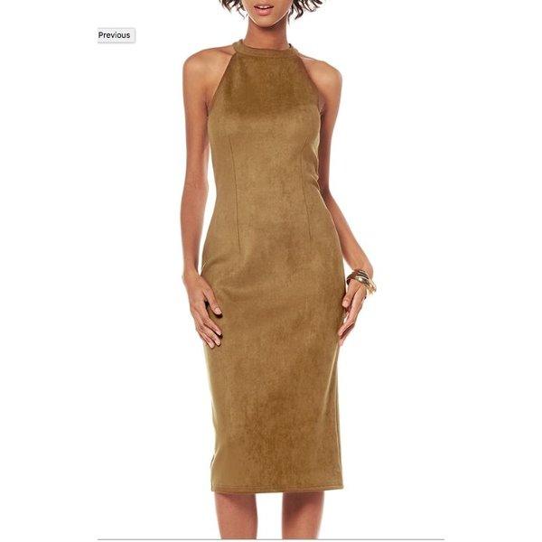 Angela Dress Camel