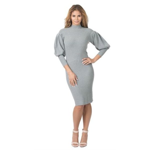 Cameron Dress Grey