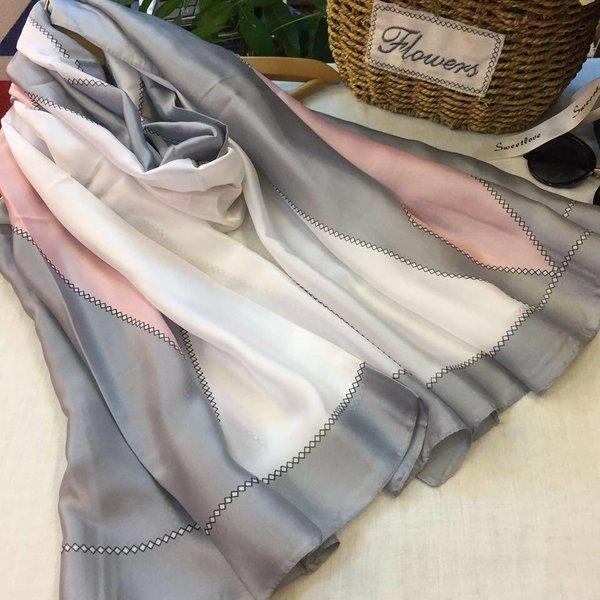Maren Silk Scarf Grey
