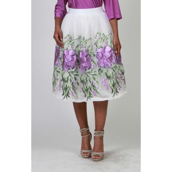 Luna Skirt White