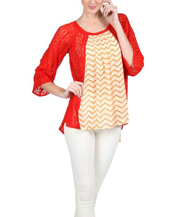 Liza Blouse Orange