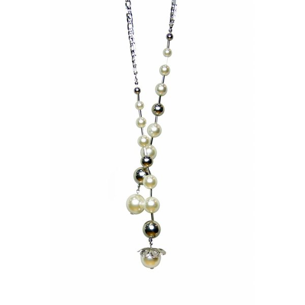 Nimah Silver and Pearls Necklace