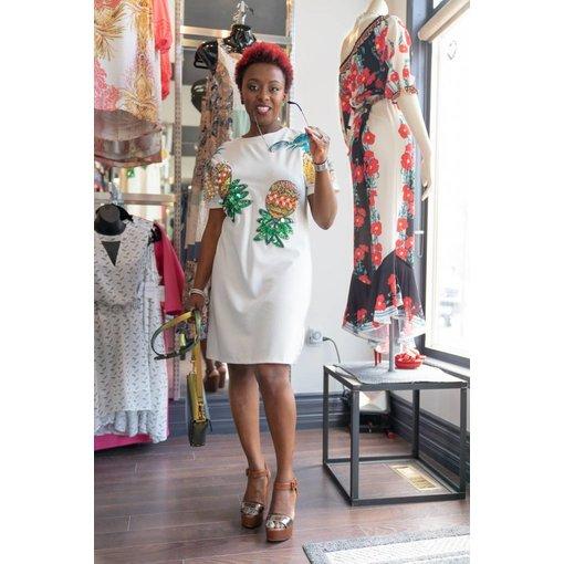 Masika Dress Ivory