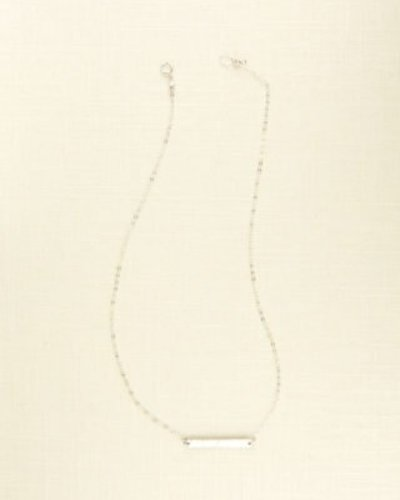 JILL MICHAEL JEWELRY POUNDED BAR NECKLACE