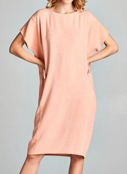 CHRISSY TUNIC DRESS CORAL