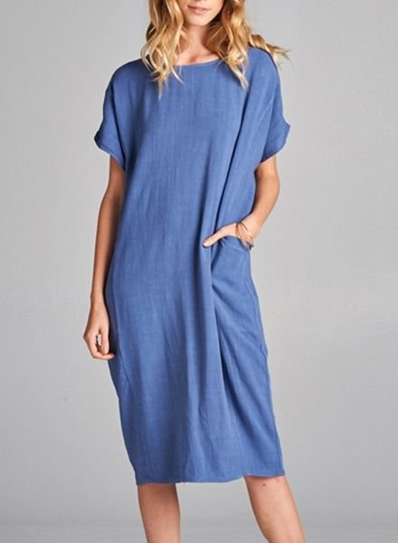 CHRISSY TUNIC DRESS DENIM