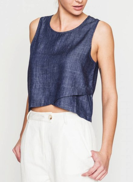 JANE CROPPED TANK INDIGO