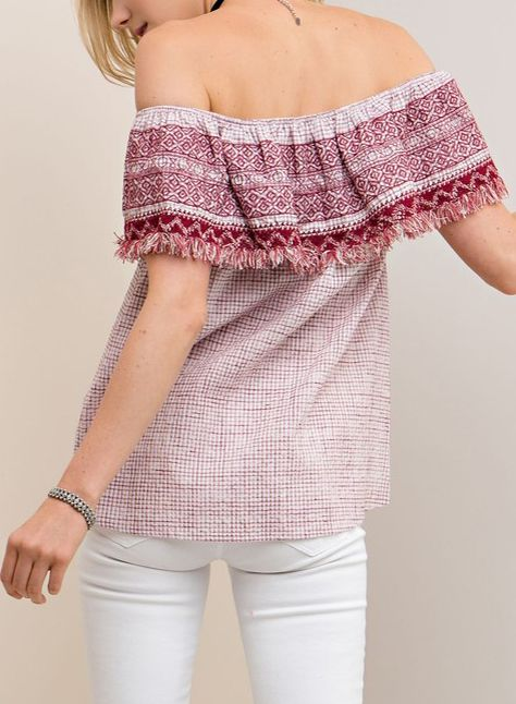 EMBROIDERED IBIZA TOP