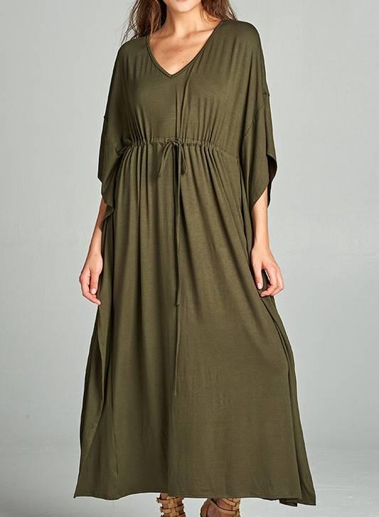 MAGGIE MAXI DRESS OLIVE