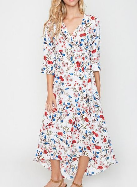 BOTONICA WRAP DRESS