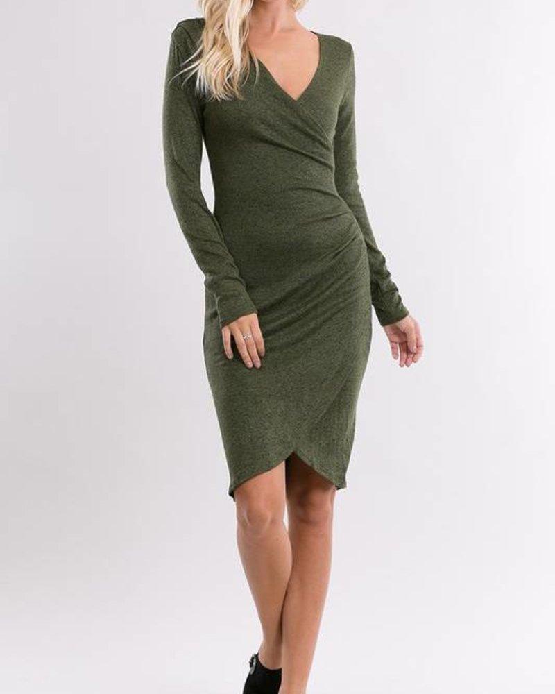 HANNAH DRESS OLIVE