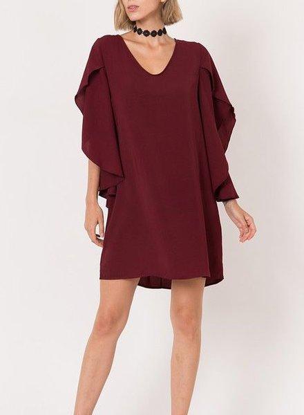 BRENDA BURGUNDY DRESS