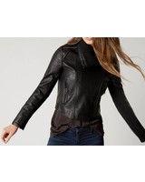 SABRINA FAUX LEATHER JACKET