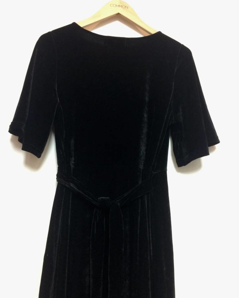 ALEXA VELVET WRAP DRESS