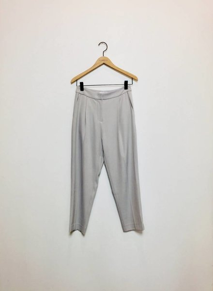 CARA CROPPED TROUSER PANT SILVER