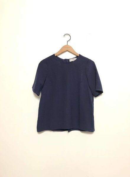 BUTTON BACK TOP NAVY