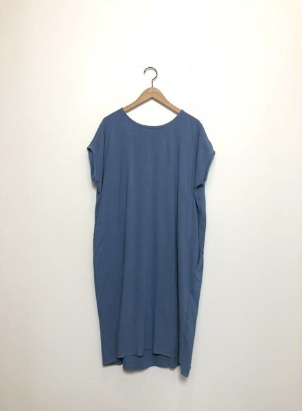 ANNA TUNIC DRESS BLUE