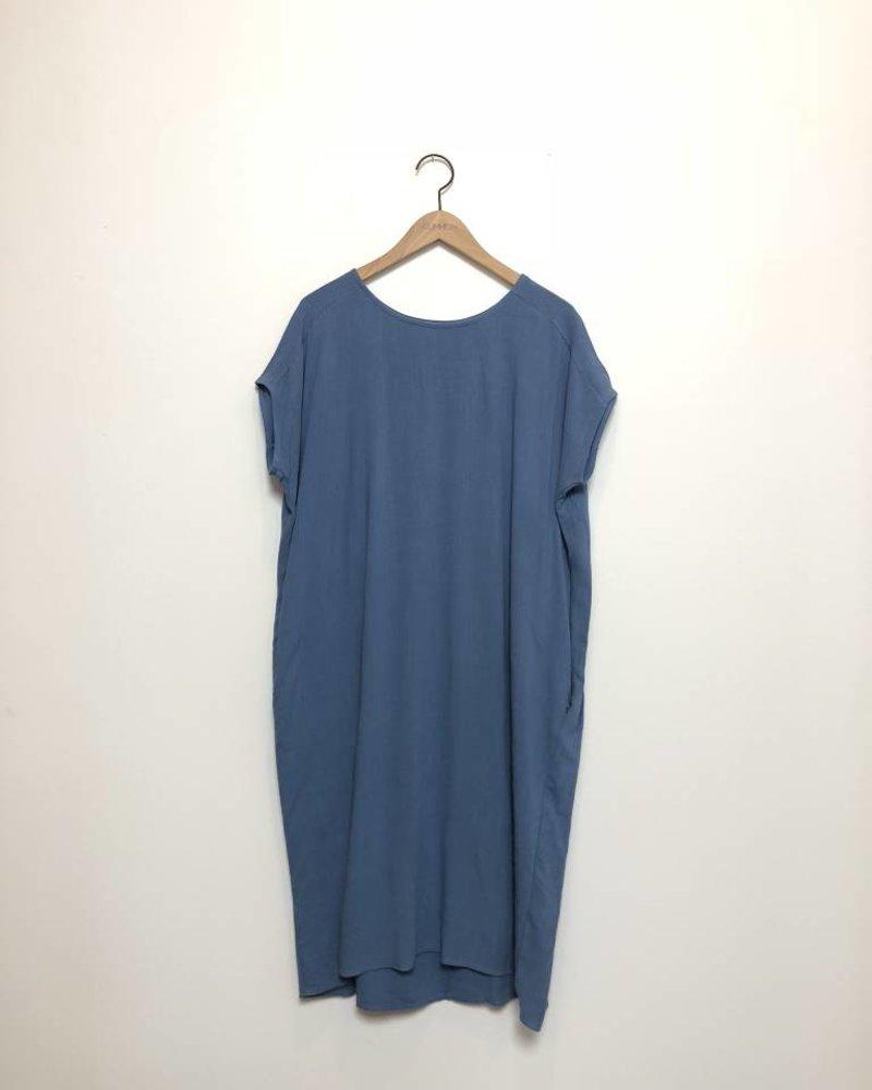 ANNA TUNIC DRESS BLUE