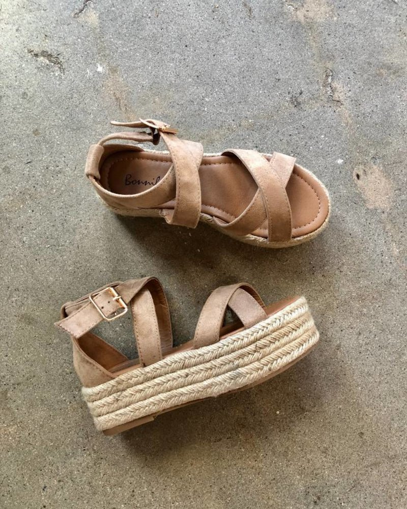 ASHLEY PLATFORM SANDAL NATURAL