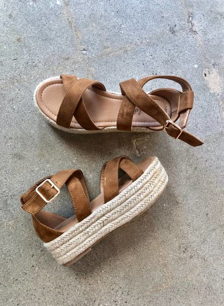 ASHLEY PLATFORM SANDAL TAN