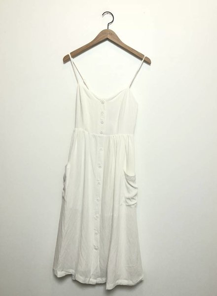 JUNE MIDI DRESS WHT