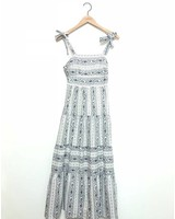 AMANDA PRINT DRESS BLU