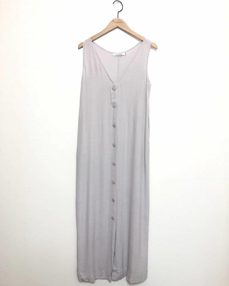 OAKLEY BUTTON DRESS LIGHT GREY