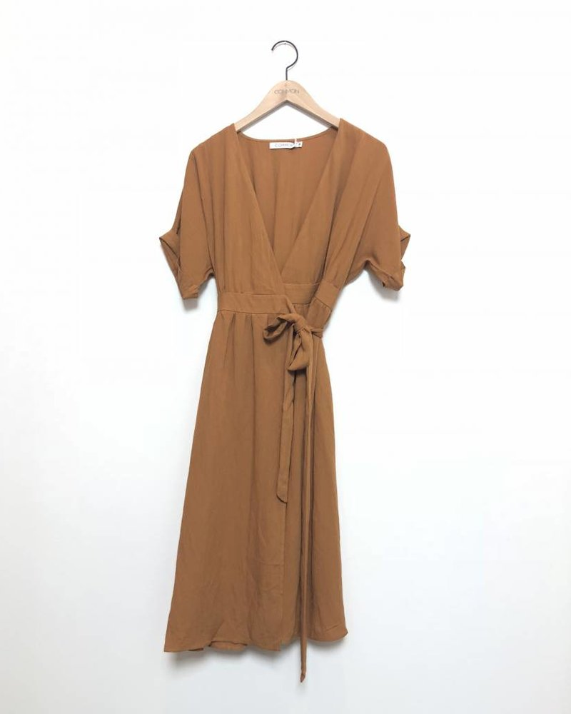 TOPANGA WRAP DRESS CARAMEL