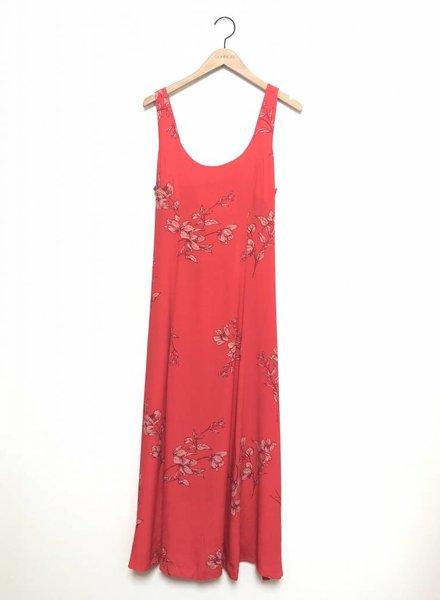 JESS FLORAL MAXI DRESS RED