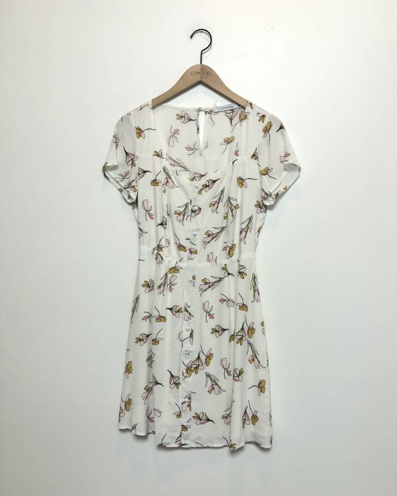 GABRIELLA FLORAL DRESS WHITE