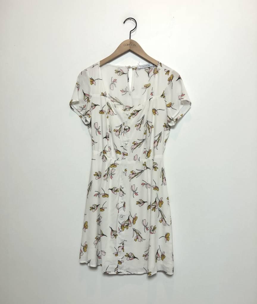 Gabriella Floral Dress White Common La Common