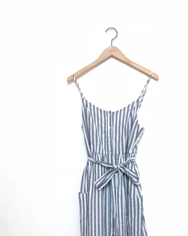 CHERYL STRIPE DRESS NAVY
